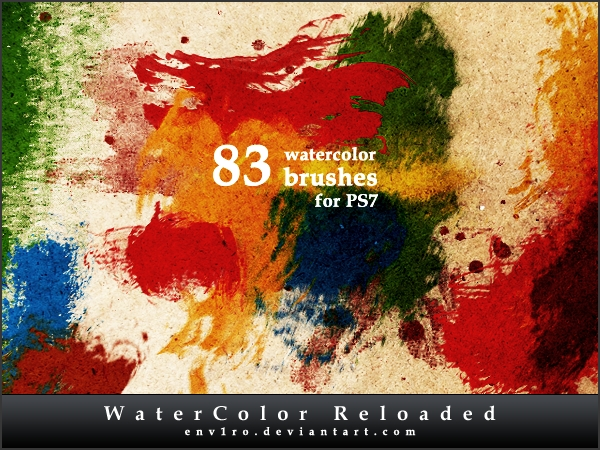 83 watercolor brushes