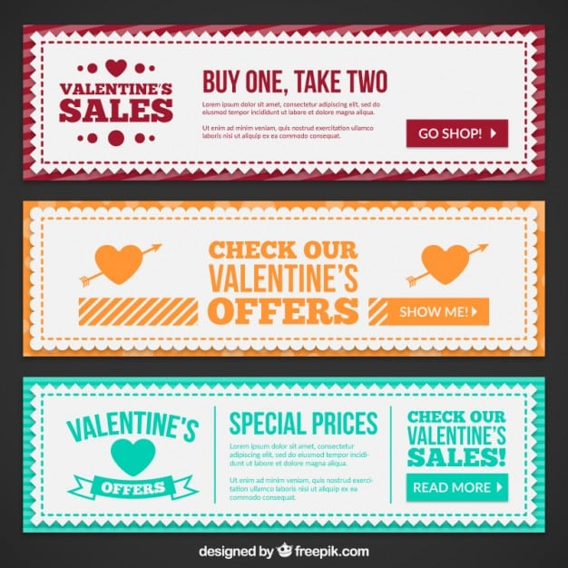 decorative valentines day banners