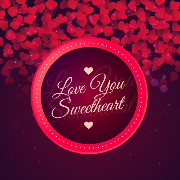 bold circle hearts - valentines day vector backgrounds