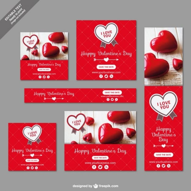 assorted valentines day banners