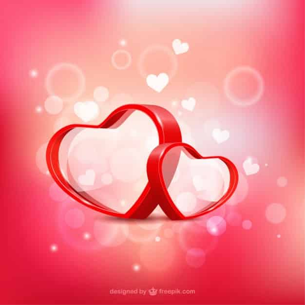 3d hearts - valentines day vector backgrounds