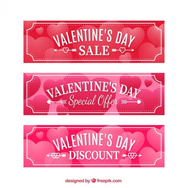 simple valentines day banners