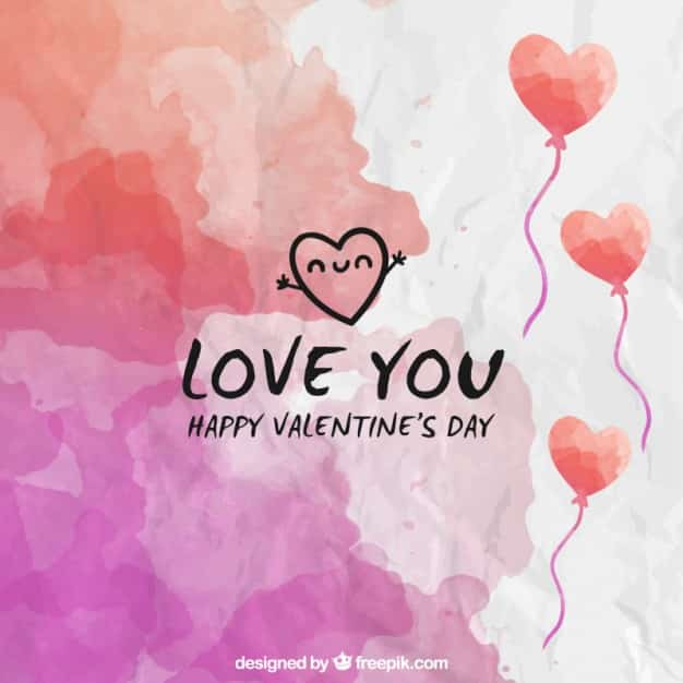 watercolor hearts - valentines day vector backgrounds