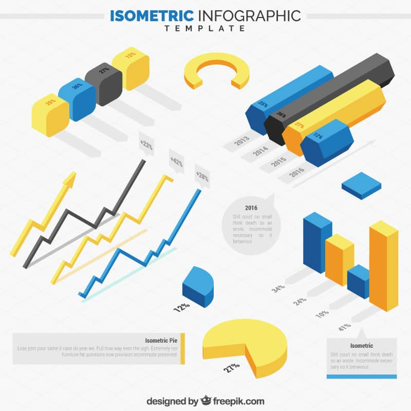 Free Isometric Infographics Pack 2