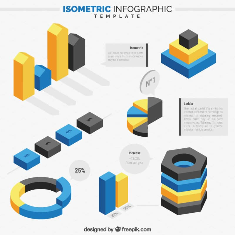 Free Isometric Infographics Pack 3