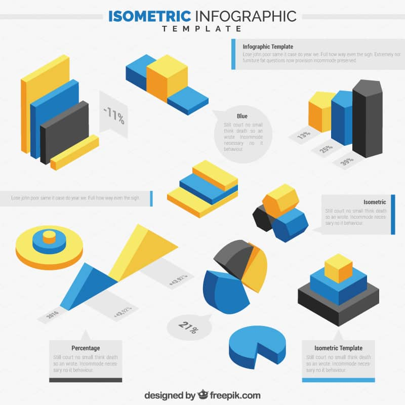 Free Isometric Infographics Pack 5