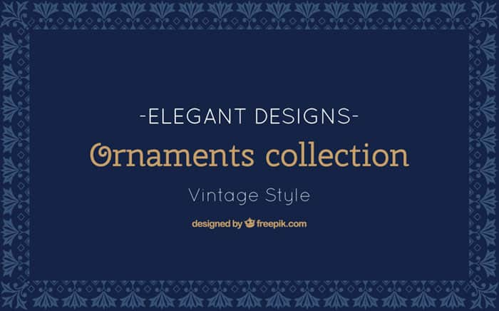 Vintage Style Ornaments Collection