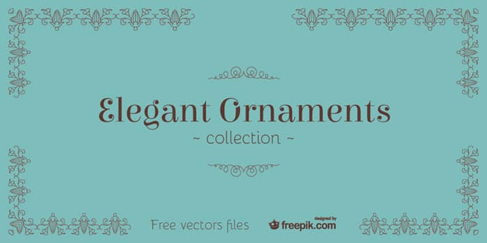 Elegant Ornaments: Vector Graphics for Borders