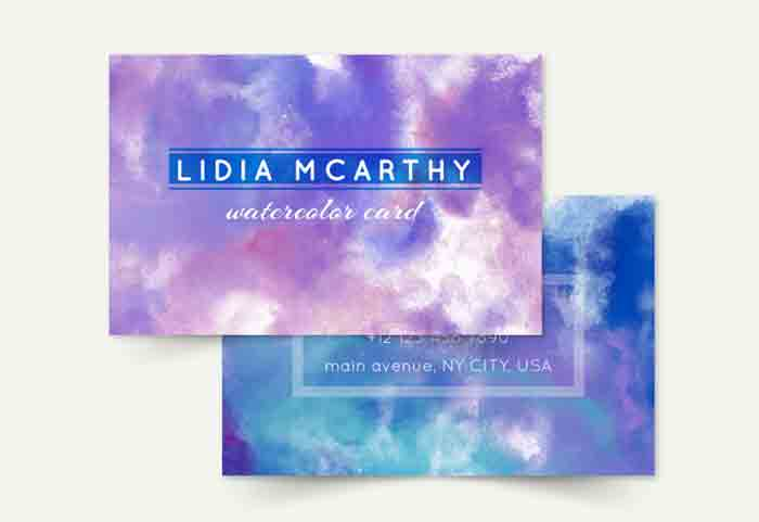 Free Watercolor Cards & Textures