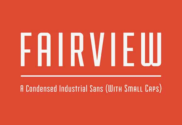 Fairview Free retro font