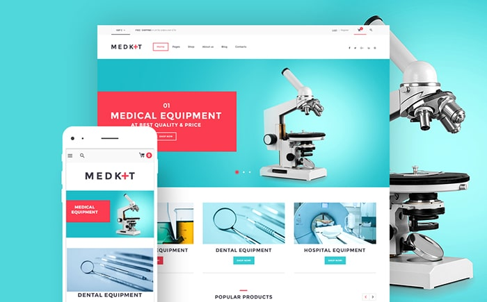 Medical Equipment WooCommerce theme
