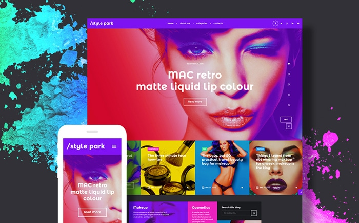 Fashion Blog WordPress Template