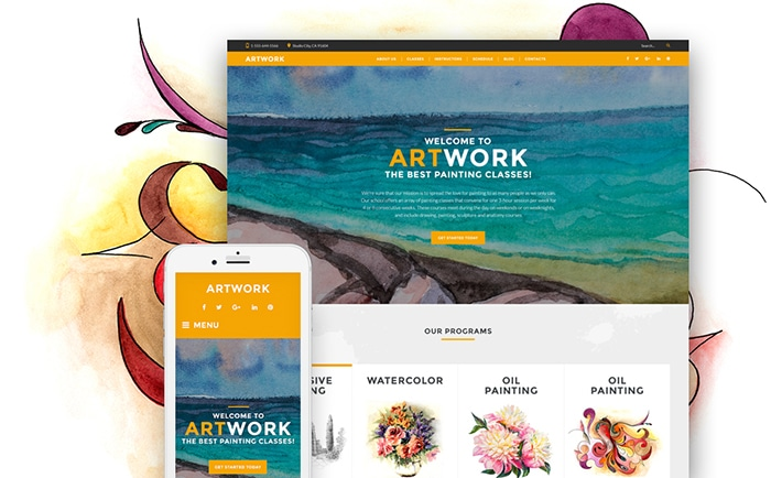 Art School Responsive WordPress Theme