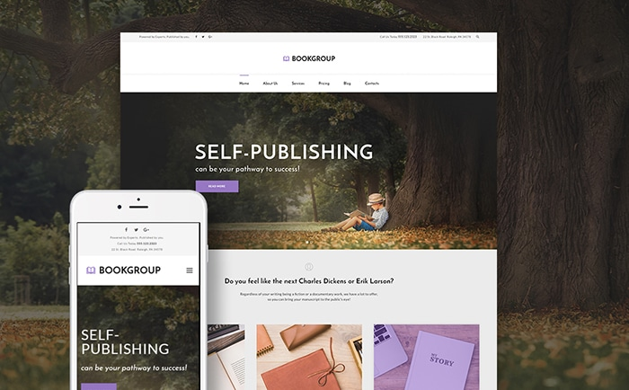 Book Publishing WordPress Theme