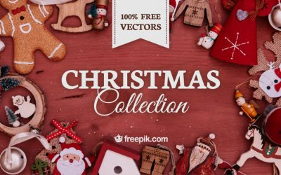 Free Download: The Collection of Christmas Vector Labels & Banners