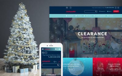20 Premium Templates for Holiday, Gifts & Flowers Websites