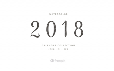 Free Watercolor 2018 Calendar Template