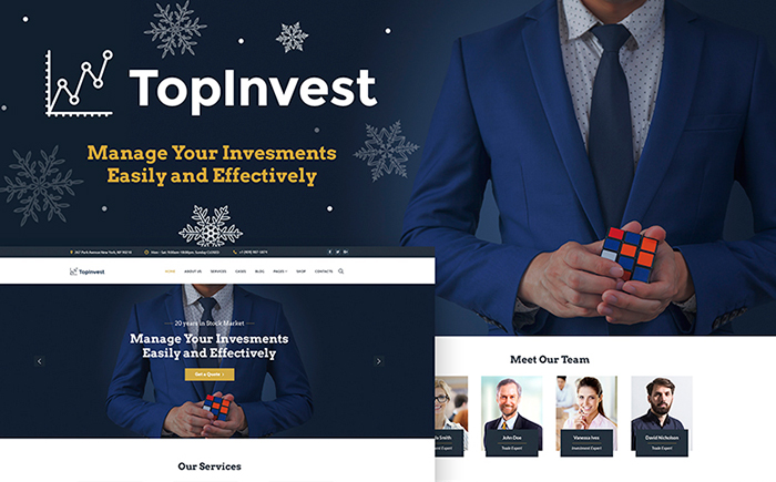 TopInvest - Investment Company WordPress Theme
