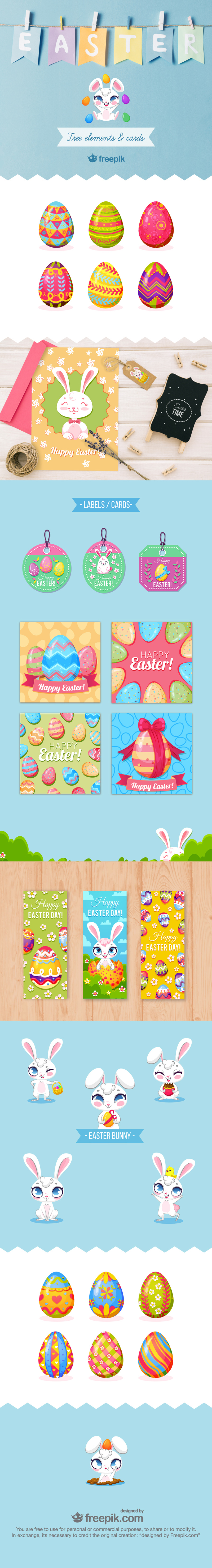 free easter graphics from Freepik