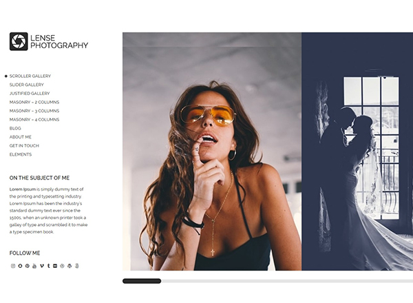 Lense - a great fashion WordPress theme