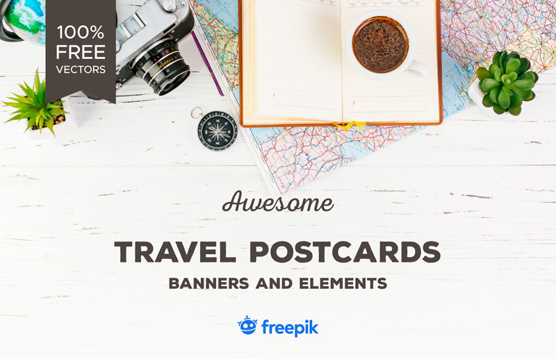 Free vector travel postcards you'll love to download
