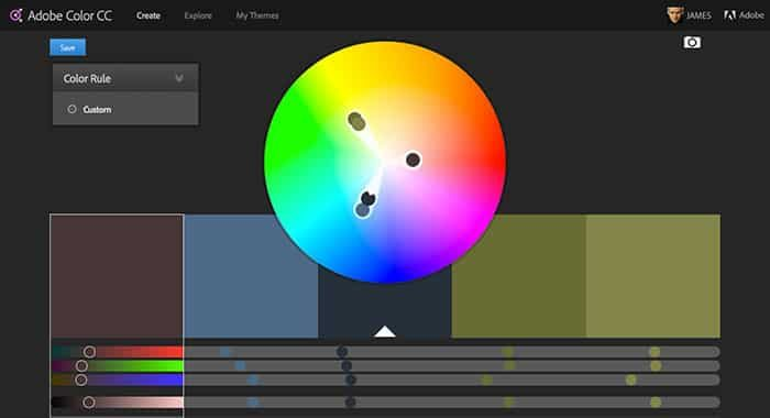 Adobe color CC - color scheme generator