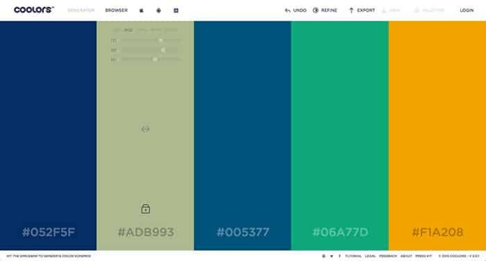 coolers - One of my favorite Color Scheme Generators