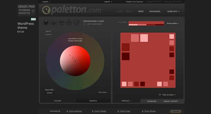 paletton - color palette generator