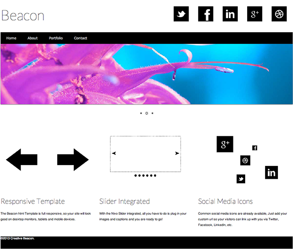 Free Responsive Website Template: Beacon