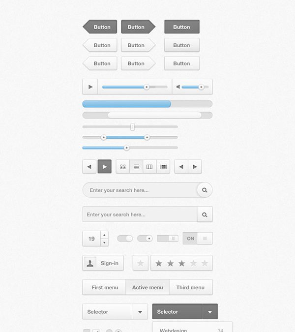 26 Professional Free Photoshop UI Kits